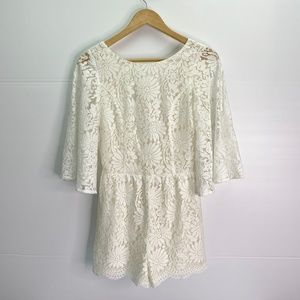 SugarLips Size XS Lace Shorts Romper NWT Low Back